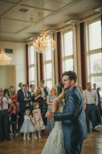 Hochzeitstanz Kursaal Schoemberg Hochzeitsfeier Brautpaar